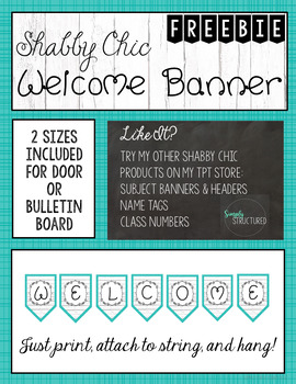 FREEBIE Welcome banner