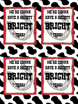 "FREEBIE Western ""We're Gonna Have a Might BRIGHT Year!"" Cards"