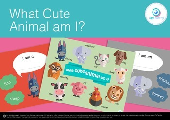 FREEBIE What Cute Animal Am I? Farm Animal Posters Bulletin Board