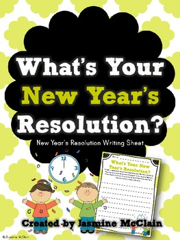 FREEBIE What's Your New Year's Resolution?
