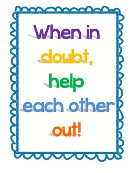 FREEBIE When In Doubt Classroom Poster
