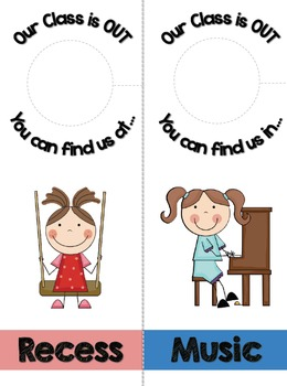 FREE [Where Is Our Class Right Now?] Hanging Door Tags