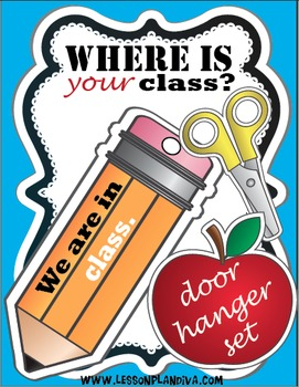 FREEBIE-Where is your class? (Door hanger set)