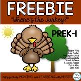 "FREEBIE: Turkey Poem, Song, Fingerplay ""Where's the Turkey?"""