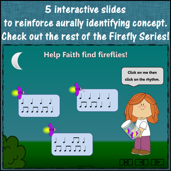 Eighth Notes - Where's the Firefly?  (Interactive Rhythm Game) FREEBIE