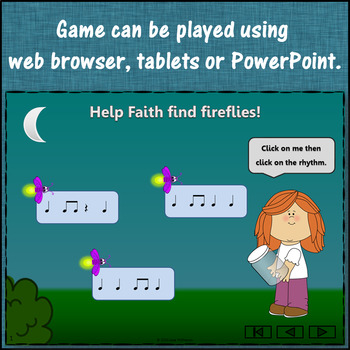 Rhythm Game: Eighth Notes Interactive Music Game FREEBIE {Firefly}