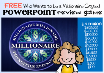FREEBIE - Who Wants to be a Millionaire Styled PowerPoint Review Game