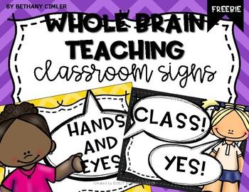 Whole Brain Teaching Signs