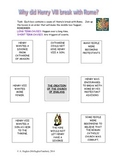 Why did Tudor King Henry VIII create the Church of England? Worksheet.