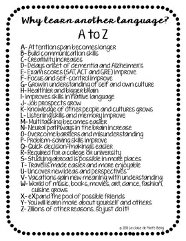 Why learn another language A to Z