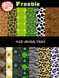 FREEBIE Wild Animal Print Digital Papers/ Clipart