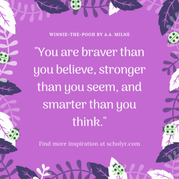 FREEBIE -- Winnie-the-Pooh Quote Poster -- Forest Theme