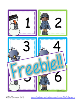 FREEBIE Winter Calendar Cards {ABCC Pattern}