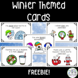 FREEBIE! Winter Cards for Students