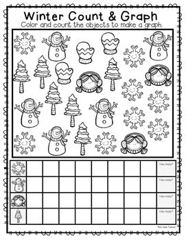 FREEBIE--Winter Count & Graph for K-1