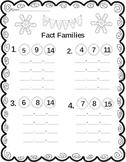 Winter Fact Families | Winter Worksheet | Winter Math | Free