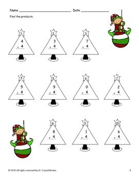 FREEBIE Winter Holiday Math for 3rd Grade
