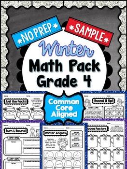 Winter No Prep Math - 4th Grade