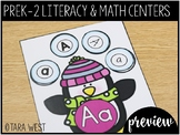 FREEBIE Winter PreK, K, 1st and 2nd Grade ELA & Math Centers Preview