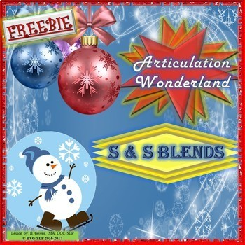 FREEBIE - Winter S and S Blends Articulation Teletherapy