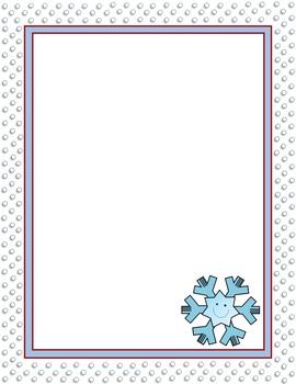 FREEBIE Winter Snowflake Digital Paper, Frame, Border, Background Dots Free