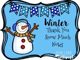 Winter 'Thank You Snow Much' Cards