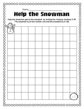 FREEBIE: Winter Themed 100's Charts