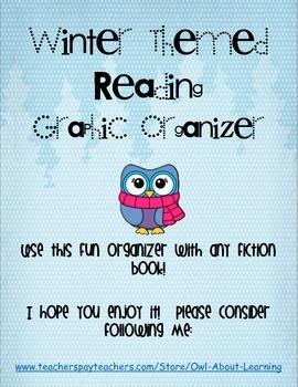 FREEBIE Winter Themed Fiction Reading Graphic Organizer