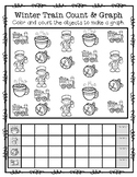 FREEBIE--Winter Train Count & Graph for K-1