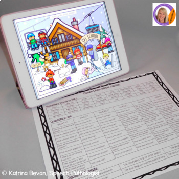 FREEBIE! Winter Vacation! Picture Chat!- Vocabulary, 'wh' questions & discussion
