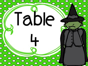 FREEBIE Wizard Of Oz Table Signs