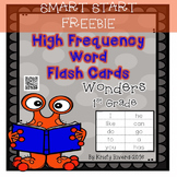 FREEBIE Wonders High Frequency Word Flash Cards-First Grade-SMART START