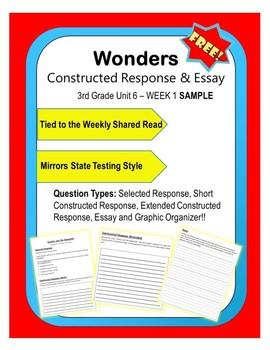 FREEBIE Wonders – Unit 6 WK1 (3rd) Constructed Response Practice