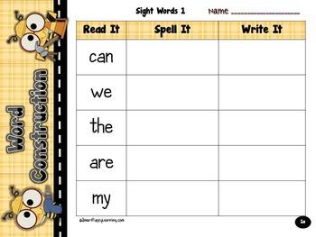 FREEBIE!  Word Construction - Making Words