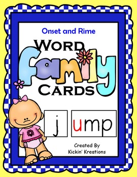 FREEBIE - Word Family Cards (Onset & Rime)