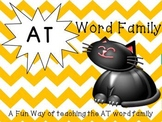 FREEBIE: Word Family Fun with the AT family
