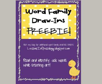 FREEBIE! Word Family Read & Identify Worksheet