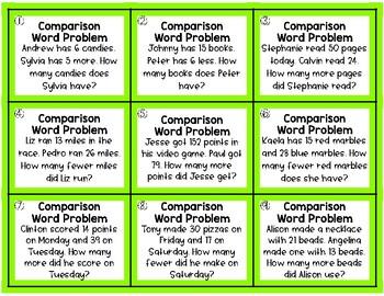 FREEBIE: Word Problem Activities