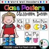FREEBIE! Word Wall Headers with Directional Arrows. Print & Go!