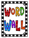 FREEBIE  Word Wall Poster and Letters