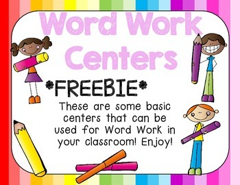 FREEBIE Word Work Centers