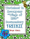 FREEBIE! Worksheet to Accompany WINGS OF LIFE Documentary