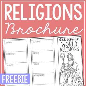 FREEBIE World Religions World and American History Research Brochure Project