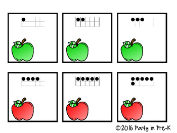 FREEBIE Worm to Apple Number Match 0-20