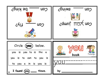 "FREEBIE!! Write-In Rhyming Mini Sight Word Books ""is"" and ""you"" Printable"