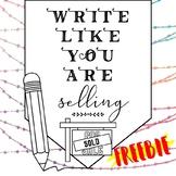 FREEBIE - Write Like You Are Selling
