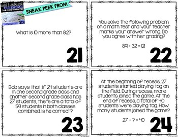 FREEBIE Write To Explain Math Task Cards