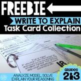 FREEBIE Write To Explain Math Task Cards
