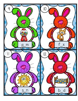 FREEBIE--Write the Room CVC Bunnies!--Literacy Center for K-2
