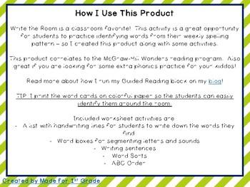 FREEBIE! {Write the Room - Grade 1} // McGraw-Hill WONDERS!